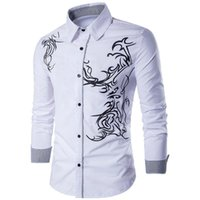 Men's Casual Shirts 2021 Spring And Autumn Shirt Cardigan Ethnic Printed Couple Trendy Long Sleeve Men Clothing