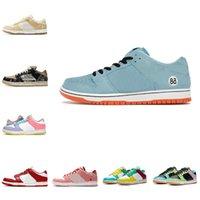 Erkekler Kadınlar için Yüksek Kalite Dunks Koşu Ayakkabıları Dunk Club 58 Körfez Ücretsiz 99 Travis Scotts SB Kıyısı UNC Siyah Beyaz Yelken Strangelove Tıknaz Dunky Eğitmenler Sneakers