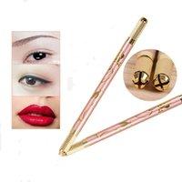 Tatouage Kits Kits Double tête Microblading Pen manuel Machine à aiguilles Maquillage permanent Maquillage permanent Brodé Lèvres Tebori Manu