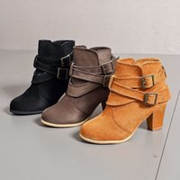 Luxury Designer Woman Shoes High Heel Boots Autumn Winter Boot Female Large Size Leather Stitching Fashion High-Heel Short