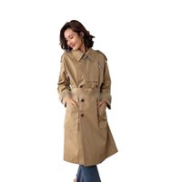Overcoat Jacket Trench Coats For Women Belt Pocket Lapel Coat Luxury designer clothes Woman Styles Long Oversized Classic Fashion High Quality Autumn Ouma New 2021