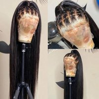 Lace Wigs Long Straight Wig 28 30 Inch 13x4 Front Human Hair Pre Plucked Brazilian Remy 180% Closure For Women