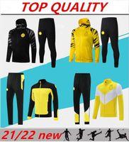 Nuevo 2021 2022 Conjuntos de chaquetas de fútbol de manga larga Traje de entrenamiento Trajes de juego 21/22 Survetement Sports Wear Chaquetas de fútbol Kit