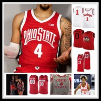 Новый колледж Огайо штата Buckeyes Баскетбол Джерси E.j. Liddell Justin Ahrens Zed Key Seth Towns Musa Jally Eugene Brown Harrison Hookfin