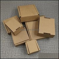 Event Festive Party Supplies Home & Garden Gift Wrap 100Pcs 10 Size Kraft Paper Corrugated Box For Small Item Packaging Diy Thickened Postal