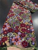Xiya Африканский французский тюль блестки кружевной ткани 2020 высокого качества кружева нигерийские кружевные ткани для швейной одежды QF3474B-3