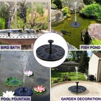 Mini Solar Fountain Garden Pool Pond Floating Water Fountain Outdoor Bird Bath Garden Bonsai Rockery Decor Fountain