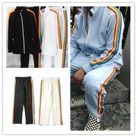 21ss مصمم فاخر ملابس رجالي تراكسويت السيدات سترة الهيب هوب عارضة هوديي رياضية السراويل الرياضية البلوز البلوز اليورو الحجم S-XL