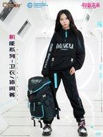 Moda Anime Vocaloid Calças Calças Calças Terno Miku Cosplay Homens Mulheres Casual Roupas Conjunto Fato De Manga Longa Preto Sportswear K813