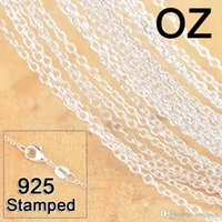 1mm 925 Sterling Silver Chains Jewelry DIY Fashion Women Gifts Link Rolo Chain Necklaces with Lobster Clasps Stamp 16 18 24-30 Inches
