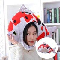 Party Hats Eye-catching Lovely Cartoon Goldfish Helmet Plush Headgear Trendy Comfortable For Cosplay