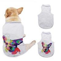 DIY Cachorros Camiseta Camisa Sublimação Em Branco Animais de Estimação 3 Tamanhos Sem Mangas Cachorro Cachorro Cachorrinho Vest Roupas Suprimentos WWA277