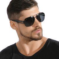 SunglassesRetro mens polarized sunglasses, large size, plastic and titanium designers original brs
