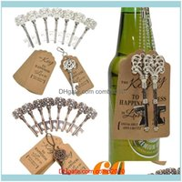 Openers Tools Kitchen, Dining Bar Home & Garden60Pcs Metal Key Beer Bottle Opener Wine Ring Keychain Wedding Party Favors Vintage Kitchen Ae
