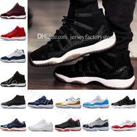 Venda por atacado baixo 11 ginásio vermelho meia-noite marinho homem e mulher sapatos de basquete 11s varsity vermelho esportes sapatos sapatos US 5.5-13 EUR 36-47 Top Quality
