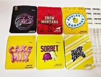 En stock Sacs d'emballage 3.5G Mylar 54 Types Biscuits Californie Balla Baies Sweet Tea Stickybuns Citron Citron Jeebet Sorbet Céréales Sac de lait