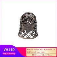 Zhukou 12x14.5mm perline squisita cappuccio e tazza di tappo per le donne braccialetto orecchini accessori gioielli per recupero modello: VH14 1052 T2