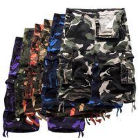 21 ss sommer männer lose casual five-punkt arbeitshose camouflage shorts große größe multi-tasche