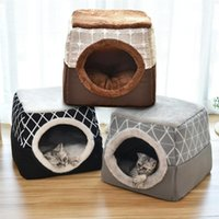 Warm Pet Dog Cat Bed Soft Nest Dual Use Sleeping Pad Winter Cozy Beds Kennel For Small Dogs Cats Puppy & Furniture