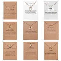 10 Styl Fashion Jewelry Women Pendant Necklace Cat Ear Angel Wings Bird Animal Circle Geometric Charm Clavicle Chains Collar