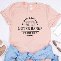 Women's T-Shirt Outer Banks North Carolina Women Tv Show Inspired Tee Pogue Life OBX Shirt John B, JJ, Kiara Fans Gift Tops