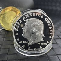 2025 Trump Pièces Monnaie commémorative American 45e Président Donald Craft Souvenirs Gold Silver Metal Badge Collection NON-Devise T2I52051