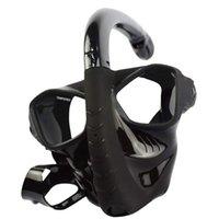 Máscaras de mergulho snorkeling full face máscara equipamento de estilo seco silicone (acima de 10 anos)