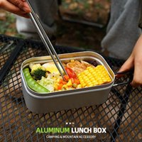 Dinnerware Sets Rice Cooker Portable Outdoor Lunch Box With Steaming Rack For Camping Hiking Pacnic Cooking