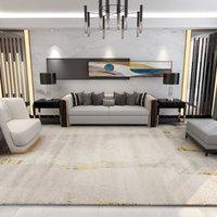 Grey And Gold Modern Luxury Style Area Carpet Gorgeous Non -Slip Rugs Livingroom Decor Door Parlor Bedside Floor Mat