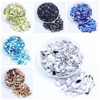 1.5*3mm-3*6mm Big Package Horse Eye Acrylic Rhinestones Crystal stone Loose Gems Beads For Nail Art Craft Decoration Accessories