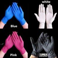 Одноразовые латексные перчатки нитриловые перчатки черный синий белый розовый PVC перчатка красота краска для волос резиновые латексные кухонные инструменты эксперимент татуировки JJD10925