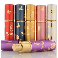 10ml Portable Mini Refillable Perfume Bottles With Scent Pump Metal Aluminum Empty Cosmetic Containers Spray Atomizer Bottle DH9866