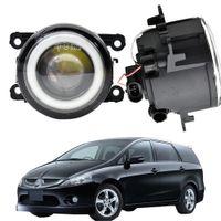 Автомобиль передний бампер противотуманный противотуманный противотуманный светильник светодиодный ангельский глаз DRL дневное время работает 30W 12V для Mitsubishi Grandis Na_W MPV 2004-2011