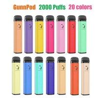 Gunnpod jetable Vape e Cigarette Pod Device 2000 Puffs 1250mAh Batterie 8ml Prérigé Cartouche Prérigée Pen VS Bang XXL