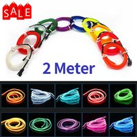 2M Car Interior LED Lights Strip Flexible EL Wire Neon Decoration Atmosphere Light RV Room With USB Night Lamp Bar Ambient Strip