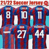 Hajduk Split Hnk Jerseys de futebol # 10 Livaja # 11 eduok # 27 Bluk 2021/2022 Hnk Hajduk Futebol Camiseta Men Adulto Manga Curta Futebol Uniformes