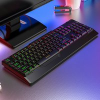 Backlights Keyboard USB Wired Gaming Keyboards with Wrist Rest for Desktop Laptop Colorful Rainbow Illuminous Keys
