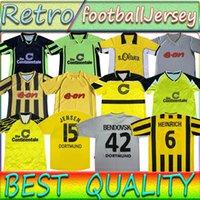 Borussia Retro Dortmund Futbol Forması 1995 96 97 98 99 2000 01 02 Lewandowski Reus Metzelder Dede Moller Amoroso Rosicky Bobic Klasik Yetişkin Futbol Gömlek