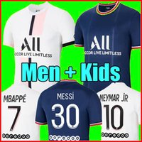 21 22 PSG jersey MESSI MBAPPE NEYMAR JR SERGIO RAMOS HAKIMI Maillot De Foot Paris Saint Germain JORDAN Maillots de football 2021 2022 hommes enfant de la chemise Quatrième
