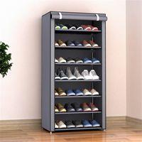 3/4/5/6/8 Camadas à prova de poeira montar sapatos shoes diy home mobiliário não-tecido armazenamento sapato prateleira corredor armário organizador portador 501 R2