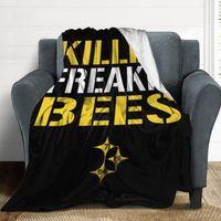 Couvertures Couverture 26 Le'veon Bell Killer Freakin 'Bees Ultra Soft Micro Micro Fleece Confortable Microfibre Microfibre Flanelle Tout saison Salon