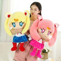 25-60cm Kawaii Anime Sailor Moon Brinquedo De Pelúcia Lua Cute Lua Hare Hare Enchido Boneca Enchida Descanso Dos Desenhos Animados Soft Dos Desenhos Animados Brinquidos Menina Presente