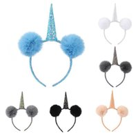 Cute Animal Horn Hair Hoop Party Cosplay Sparkling Plush Bal...