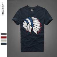 2021 Bahar ve Yaz Yeni Kısa Kollu T-Shirt Saf Pamuk Yuvarlak Boyun Moda Erkekler Giyim AF