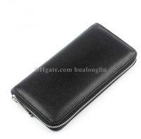 Women Long Wallet zipper Genuine leather original box serial number purse wallets