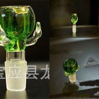 Ciotola di vetro artigliata del drago spesso per il fumo di tubi del fumo del supporto dell'erba secca 14mm18mm Ciotole del fumo di vetro del giunto maschio 450 S2