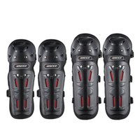Four seasons riding motorcycle knee elbow four piece cross country Knight protection autumn and winter warm anti fall leg