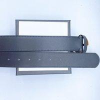 2021 Moda Moda Cinturones de cuero genuino para la letra para hombre Doble Hebilla Hombre Jeans Rhinestone Cinturón Ancho 3.8-2.0cm 90-125cm