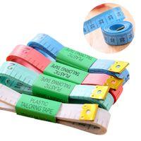 Corpo colorido portátil Corpo de medição de polegada de costura de costura fita alfaiate medida macia ferramenta 1.5m costura fitas de medição