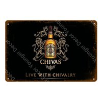 decor Vintage Beer Poster Chivas Regal Metal Classic Drinks Whiskey Decorative Plaque Wall Sticker Pub Bar Club Home Decortin signs